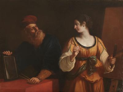 Guercino Tiziano y la Pintura o El Dibujo y la Pintura