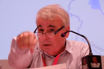 El presidente de Adhilac Sergio Guerra Vilaboy en la Casa de Colón